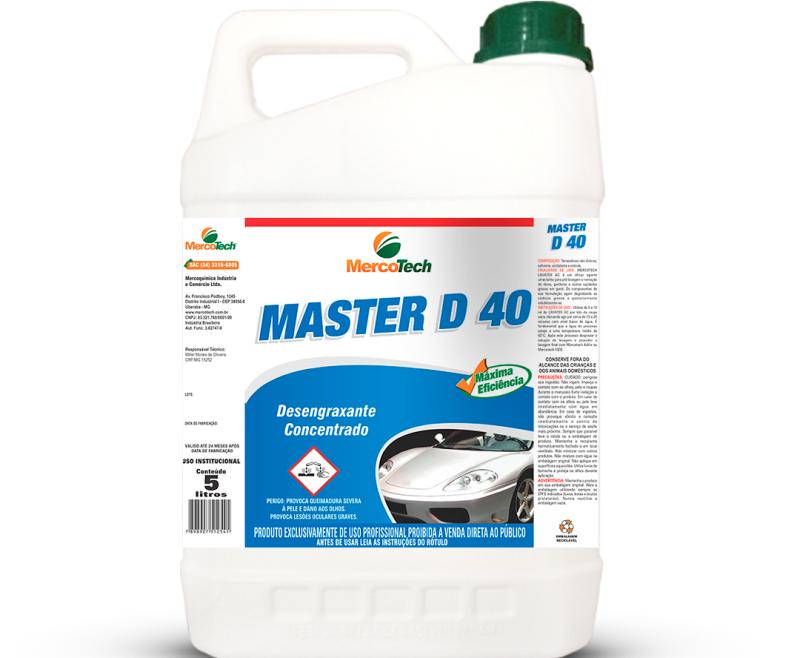 MERCOTECH MASTER D 40 – DESENGRAXANTE CONCENTRADO – 5L