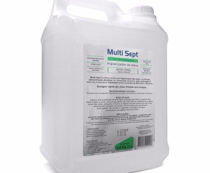 ALCOOL GEL 5L TRILHA MS-5000-MULTI SEPT
